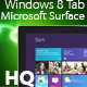 Windows 8 Tablet Microsoft Surface + Touch Cover - 3DOcean Item for Sale