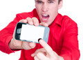 man showing smart phone - PhotoDune Item for Sale