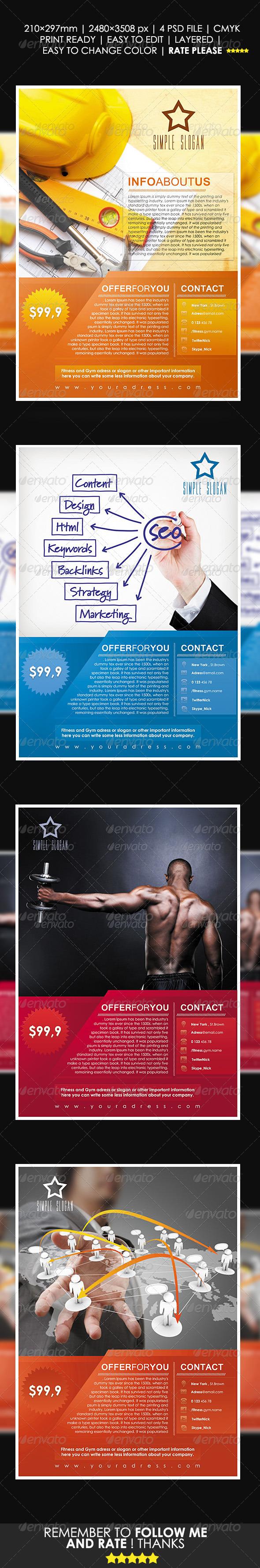 GraphicRiver Company Universal Flyer Template 3687315