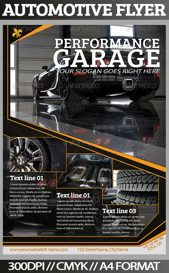 GraphicRiver Automotive Flyer 3553213