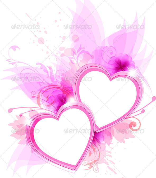 GraphicRiver Pink Hearts 3738443