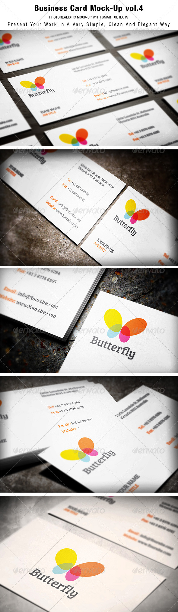 GraphicRiver Business Card Mock-up vol.4 3738447