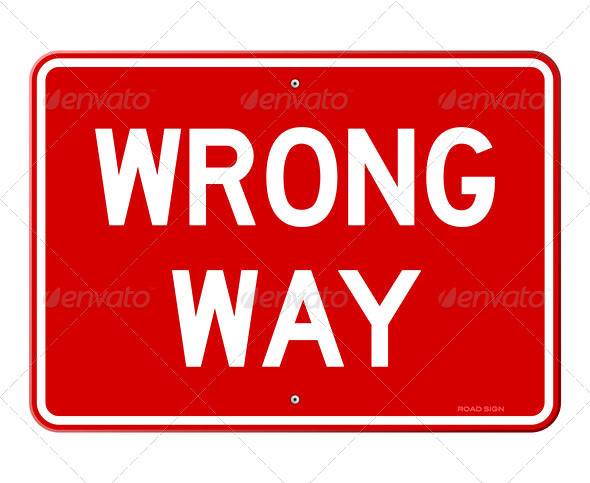 GraphicRiver Wrong Way Sign 3738692