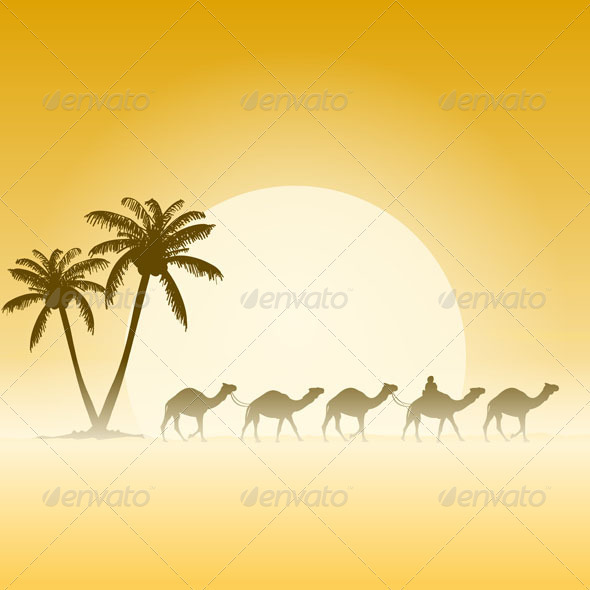 GraphicRiver Camels and Palms 3738702