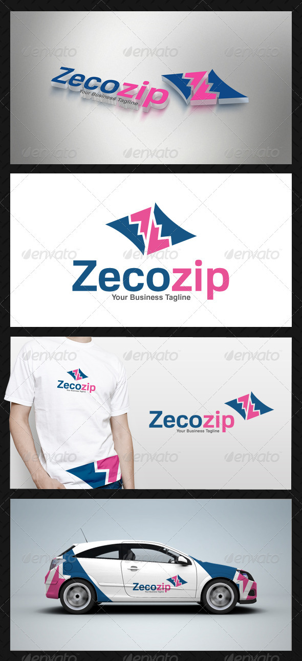 GraphicRiver Abstract Zip Logo Template 3738705