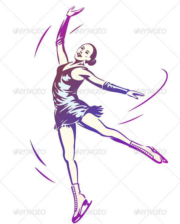 GraphicRiver Figure Skating Woman 3739935