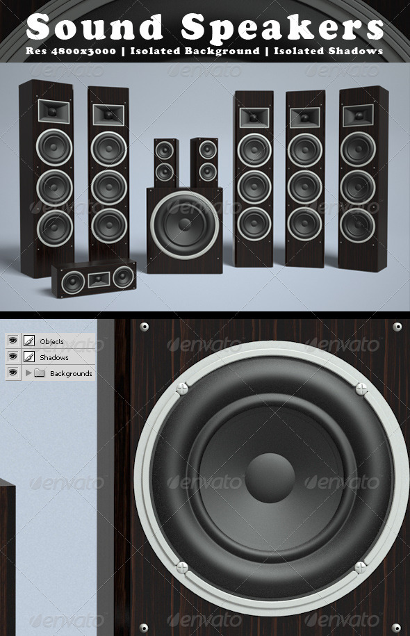 Speakers - Technology 3D Renders