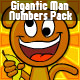 Gigantic Man Numbers Pack