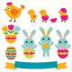 Easter Vector Sticker Set - GraphicRiver Item for Sale