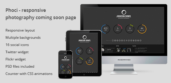 Phoci - responsive photography coming soon page