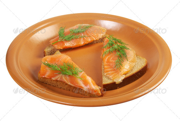 PhotoDune Canapes with smoked salmon 3743633