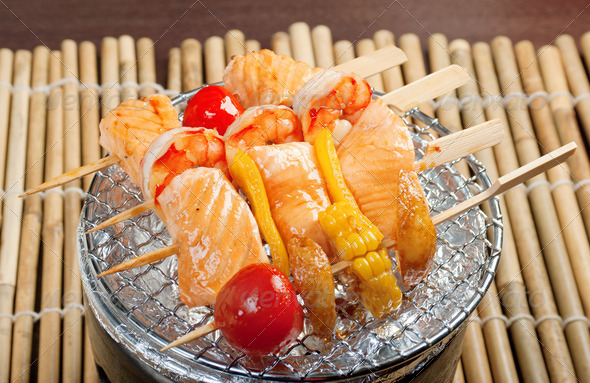 PhotoDune Japanese skewered seafoods 3743641