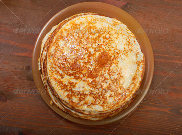 PhotoDune stack of pancakes russian traditional food 3743645