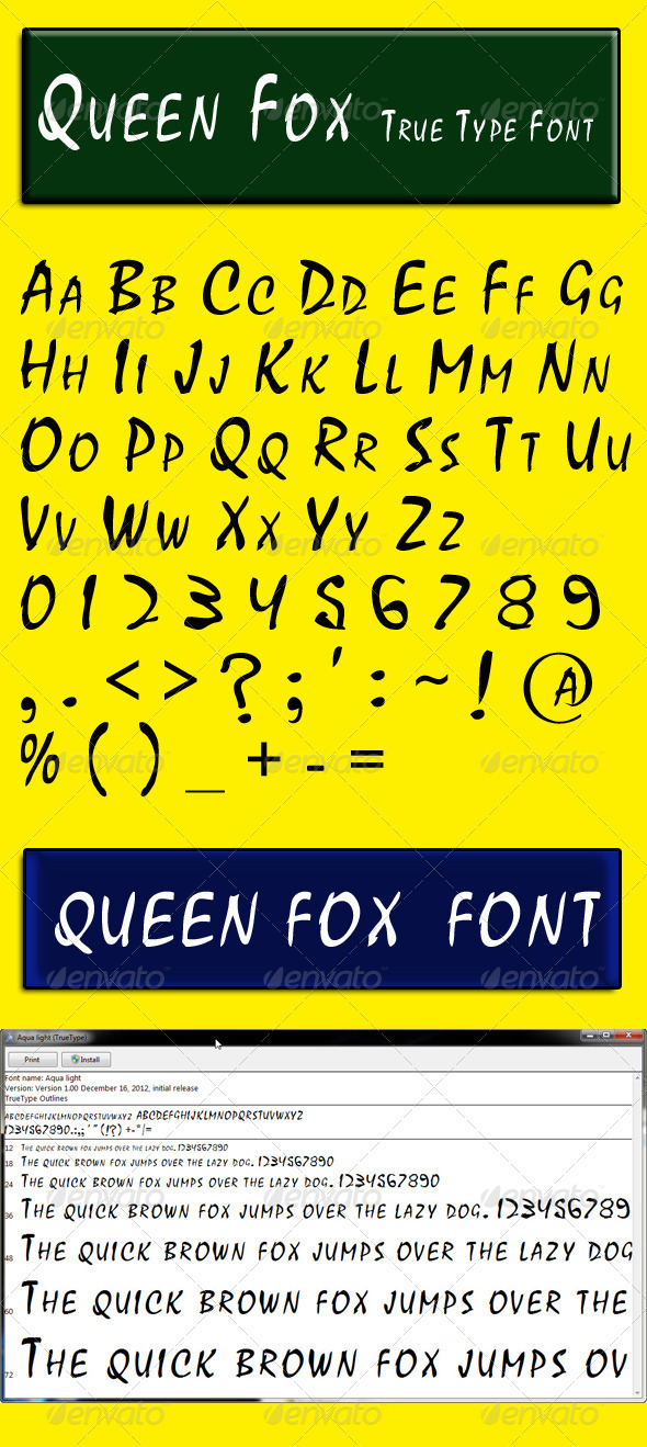 Queen Fox - Calligraphy Script
