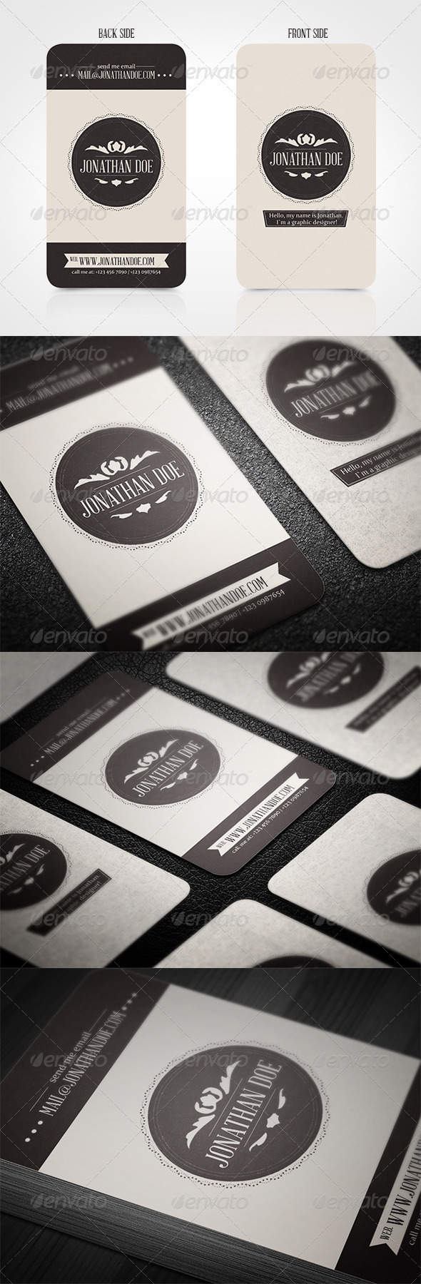 GraphicRiver Vintage Business Card 3695829