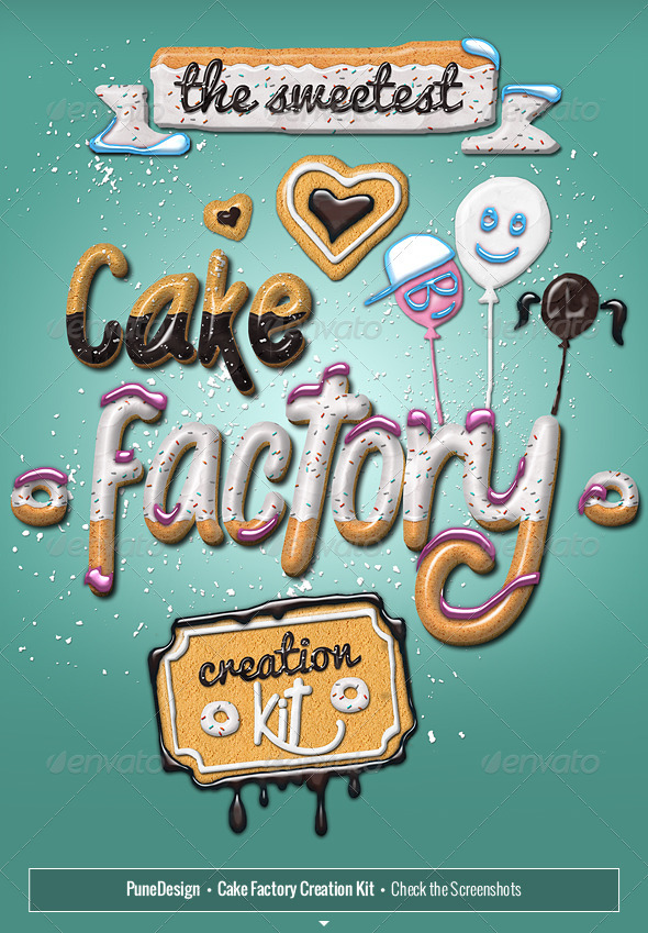 GraphicRiver Cake Factory Creation Kit 3745124