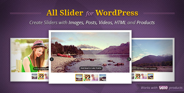 CodeCanyon AllSlider WordPress Responsive Slider Carousel 3745375