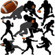 American Football Vector Silhouettes - GraphicRiver Item for Sale