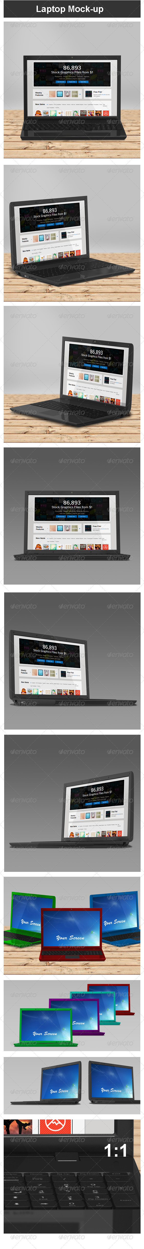 GraphicRiver Laptop Mock-up 3746305