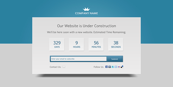Fleepy Under Construction Theme with Countdown