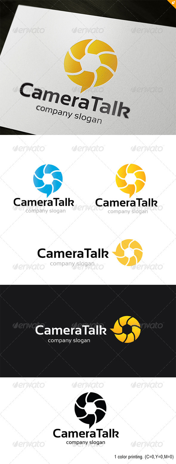 GraphicRiver Camera Talk Logo 3689271