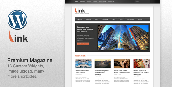 Link - Clean Magazine Blog Newspaper Template - News / Editorial Blog / Magazine