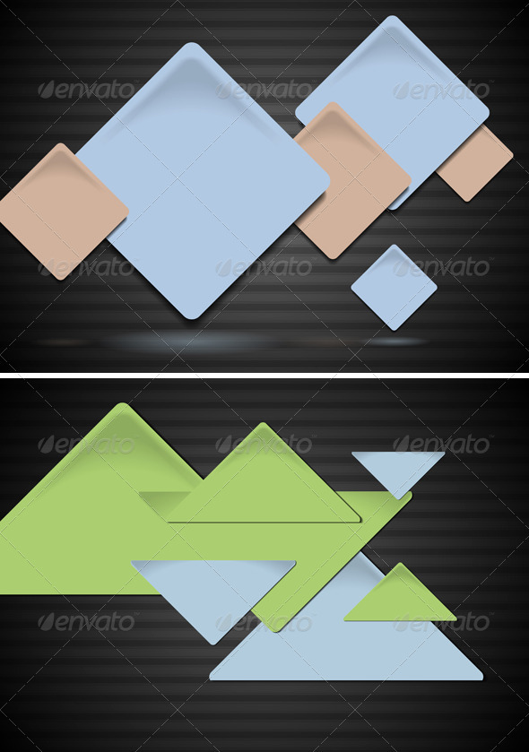 GraphicRiver Squares and triangles on the dark background 3749475