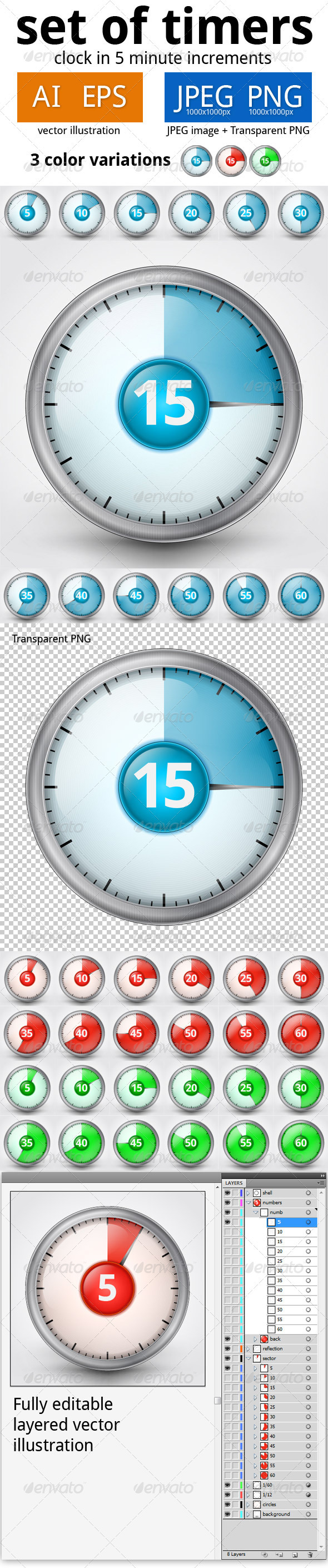 GraphicRiver Set of Timers 2 3749976