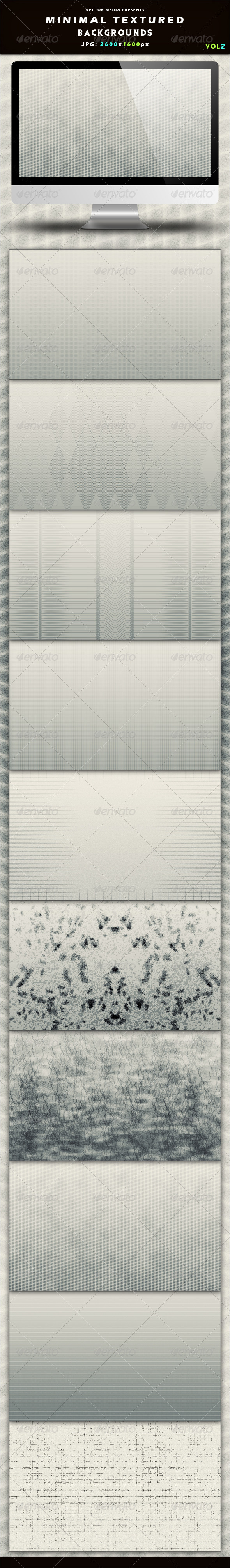 Minimal Textured Backgrounds - Vol 2 - Backgrounds Graphics