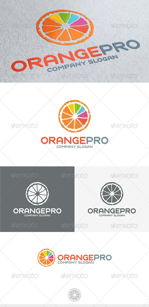 GraphicRiver Orange Pro Logo 3750040
