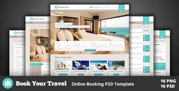 Book Your Travel - Online Booking Template - Travel Retail