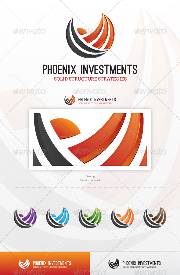 Phoenix Investments Logo - Vector Abstract