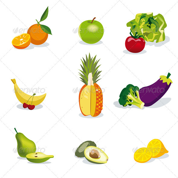 GraphicRiver Fruits and Vegetables 3750594