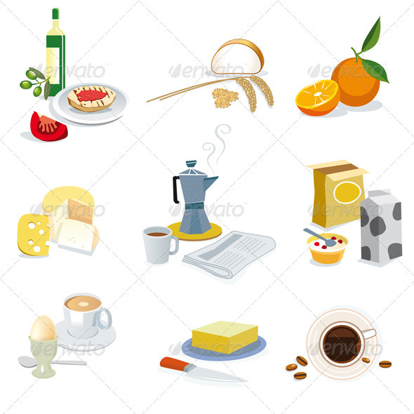 GraphicRiver Breakfast Ingredients 3750623