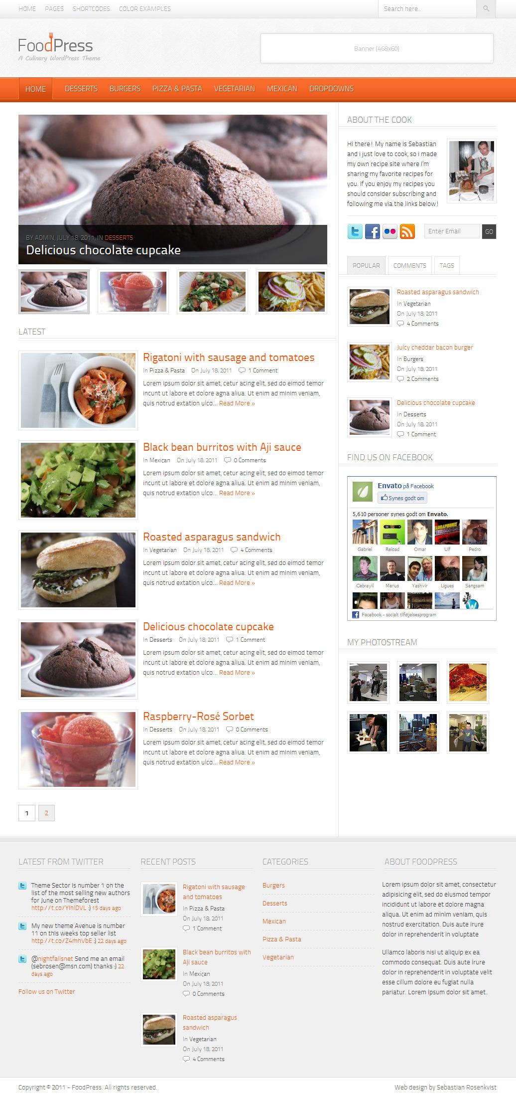FoodPress - A Recipe & Food Blog WordPress Theme