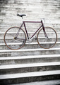 City road bicycle on stairs, vintage style - PhotoDune Item for Sale