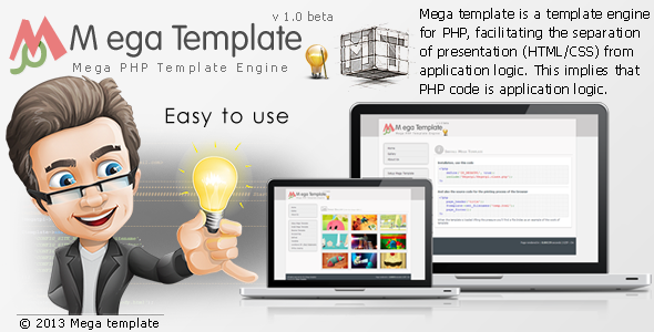 CodeCanyon Mega PHP Template Engine v1.0 3753511