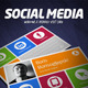 Social Media Visit Card - GraphicRiver Item for Sale