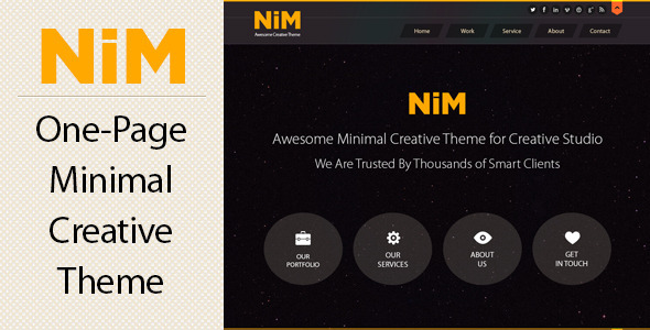 NiM - One Page Creative Theme - Creative PSD Templates