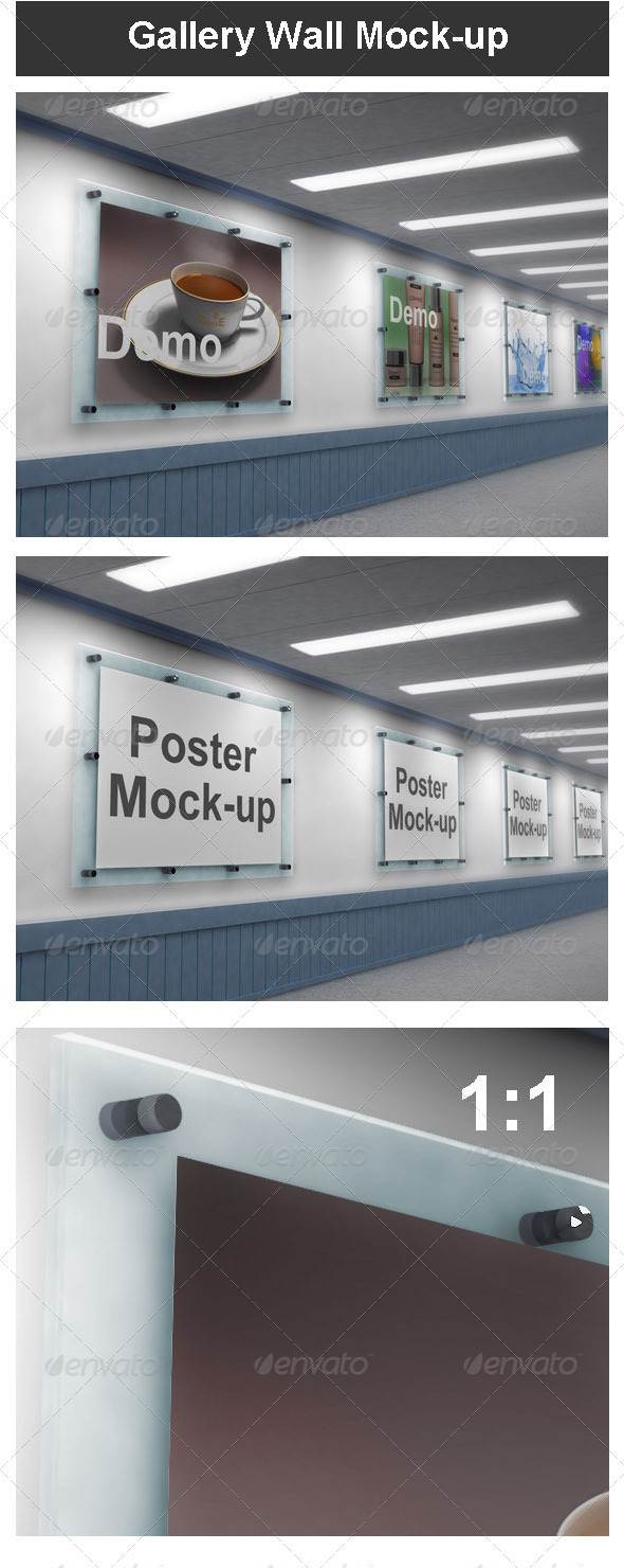GraphicRiver Gallery Wall Mock-up 3756093