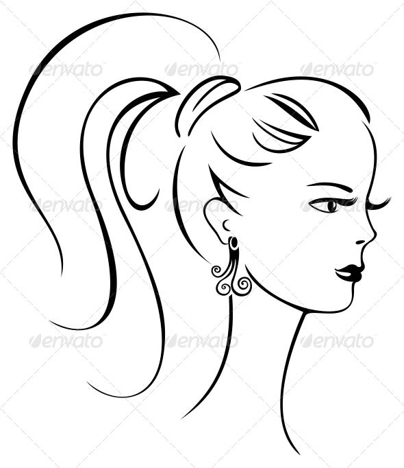 GraphicRiver Beautiful retro girl 3756357