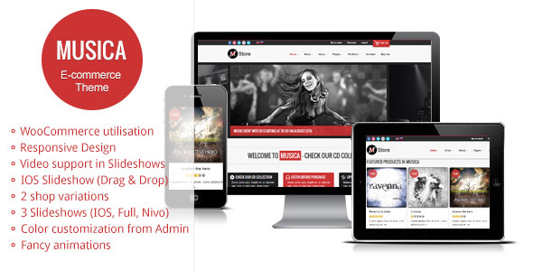 Musica - Responsive WordPress WooCommerce Theme
