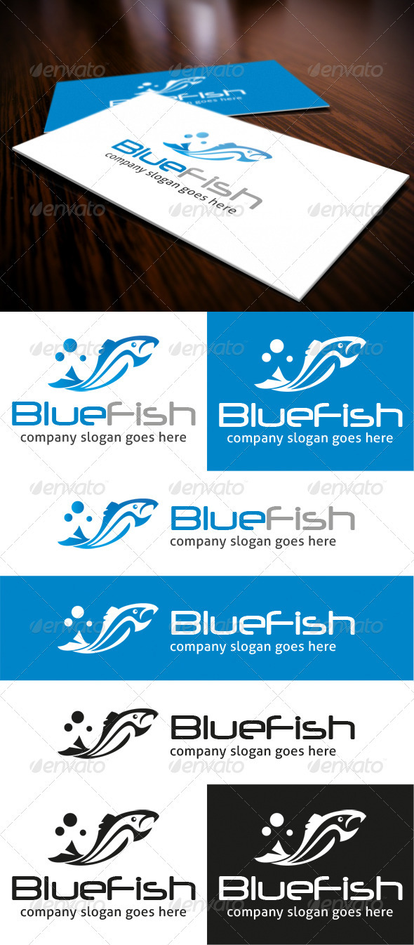 GraphicRiver Blue Fish Logo 3757962