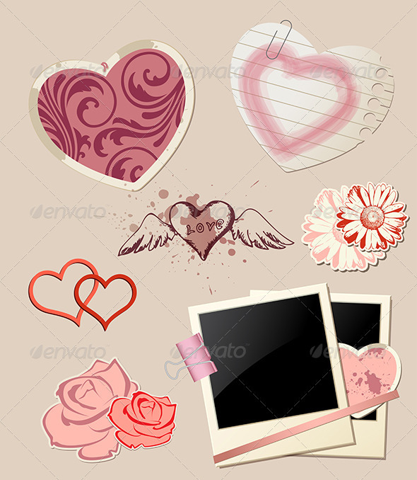 GraphicRiver Valentine`s Day Scrapbook 3758066