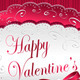 Post card Happy Valentines Day with  bow heart - GraphicRiver Item for Sale