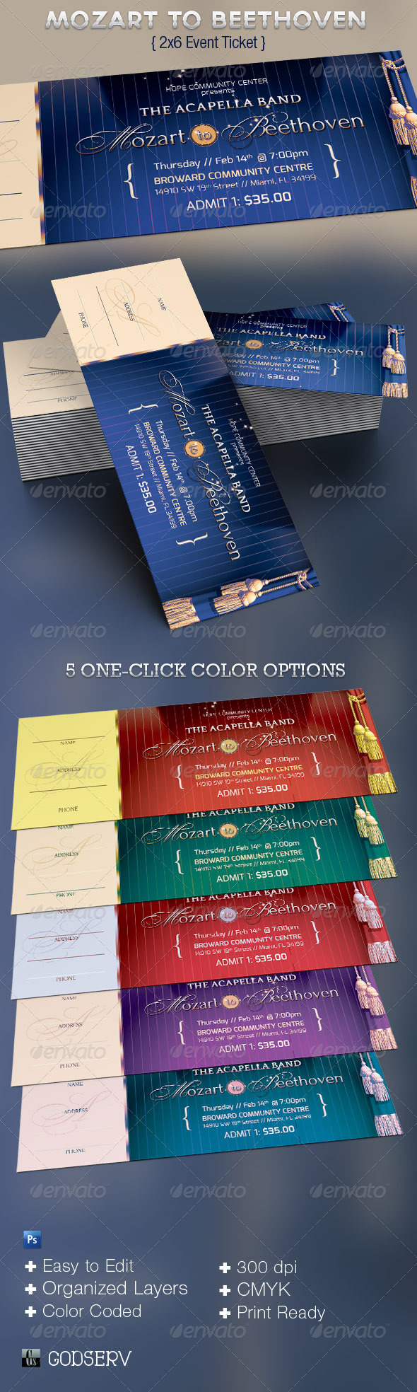 GraphicRiver Mozart to Beethoven Event Ticket Template 3759782