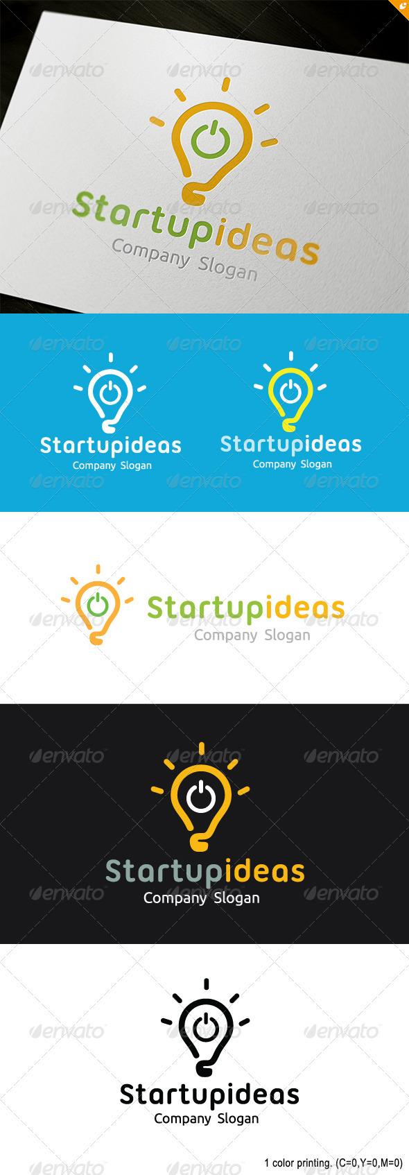 GraphicRiver Startup Ideas Logo 3693076