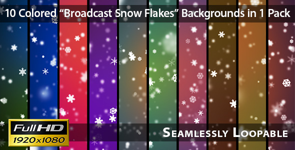 Broadcast Snow Flakes Pack 01 VideoHive Motion Graphic Backgrounds  Events 3760421