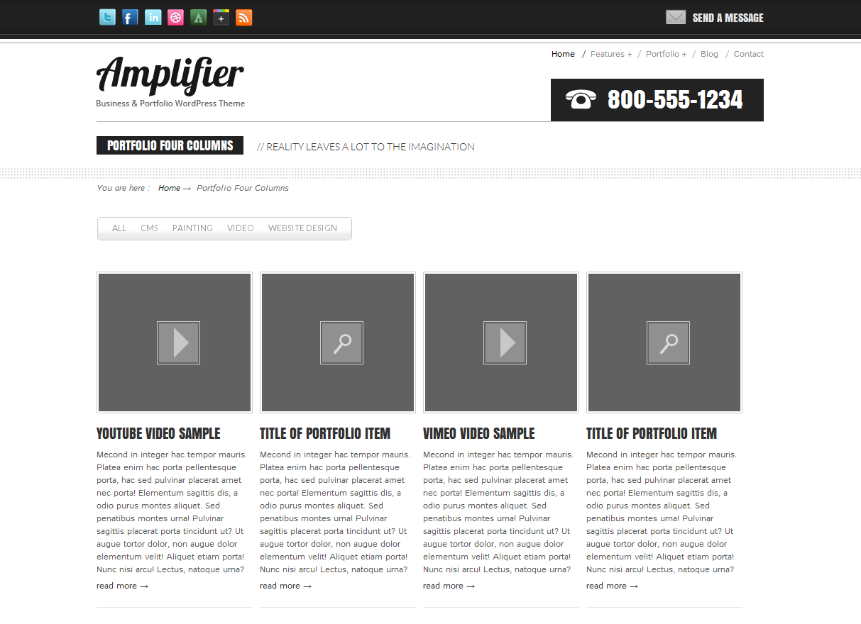 Amplifier Business &amp; Portfolio Template
