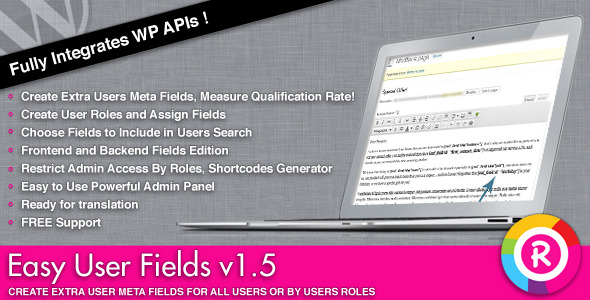 Easy User Fields - Collect Users Informations - CodeCanyon Item for Sale